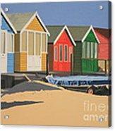 Four Beach Huts Acrylic Print