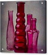 Four Bottles Acrylic Print