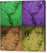 Four Colours Of Obama Acrylic Print