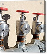 Four Emergency Water Valves Acrylic Print