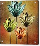 Four Fractal Flower Acrylic Print