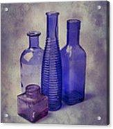 Four Glass Bottles Acrylic Print