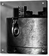 Four Jaw Chuck Black And White Acrylic Print