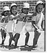 Four Little Girls Having Fun Acrylic Print