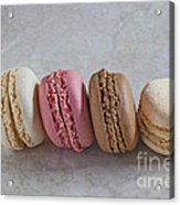 Four Macarons In A Row Acrylic Print