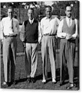 Four Men On A Golf Course Acrylic Print