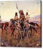 Four Mounted Indians Acrylic Print