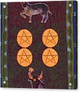 Four Of Pentacles Acrylic Print