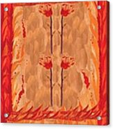 Four Of Wands Acrylic Print