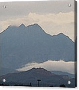 Four Peaks After A Storm Acrylic Print