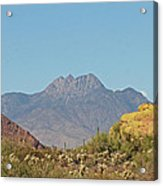 Four Peaks From The Apache Trail Acrylic Print