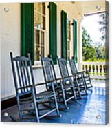 Four Porch Rockers Acrylic Print by Perry Webster