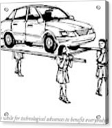 Four Roman Servants Carry A Car On A Canopy Like Acrylic Print