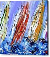 Four Sails To Four Winds Available As A Signed And Numbered Print On Canvas See Www.pixi-art.com Acrylic Print