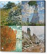 Four Seasons A Collage Of Monets Acrylic Print
