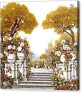 four seasons-autumn on lake Maggiore Acrylic Print by Guido Borelli