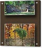 Four Seasons Collage Acrylic Print