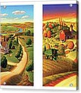 Four Seasons On The Farm Acrylic Print by Robin Moline
