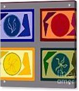 Four Tiles Acrylic Print by Meenal C