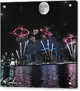 Fourth Of July Fireworks Acrylic Print by Michael Rucker