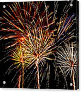 Fourth Of July Fireworks  Acrylic Print by Saija  Lehtonen