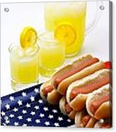 Fourth Of July Hot Dogs And Lemonade Acrylic Print by Amy Cicconi