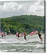 Fourth Of July Water Skiers Acrylic Print by Susan Leggett