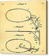 Fox Foldable Basketball Goal Patent Art 1952 Acrylic Print by Ian Monk