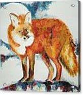 Fox In The Moon Acrylic Print