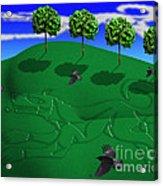 Fox Mound Acrylic Print by Keith Dillon