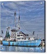 Shrimp Boat At Port Acrylic Print
