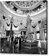foyer and entrance to the forum shops at caesars palace luxury hotel and casino Las Vegas Nevada USA Acrylic Print