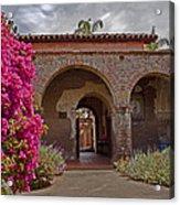 Fr. Serra Church Entrance Acrylic Print