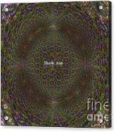 Fraclilac Acrylic Print