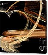 Fractal 24 Es Heart Acrylic Print