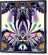 Fractal 26 Jeweled Tone Lotus Flower Acrylic Print