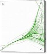 Fractal 41 Green Acrylic Print