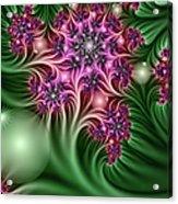 Fractal Abstract Dreamy Garden Acrylic Print