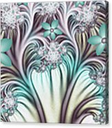 Fractal Abstract Fantasy Flower Garden 2 Acrylic Print