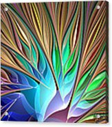 Fractal Bird Of Paradise Acrylic Print