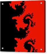 Fractal Black Dragons Acrylic Print