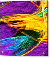 Fractal - Butterfly Wing Closeup Acrylic Print