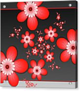 Fractal Cheerful Red Flowers Acrylic Print