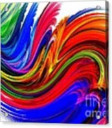 Fractal Colors On White Acrylic Print