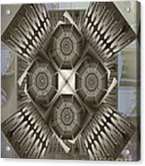 Fractal Design Number Nine Acrylic Print by Doris Wood