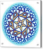 Fractal Escheresque Winter Mandala 1 Acrylic Print