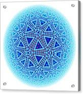 Fractal Escher Winter Mandala 5 Acrylic Print