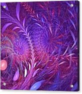 Fractal Flower Fields Acrylic Print