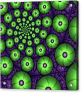 Fractal Green Shapes Acrylic Print