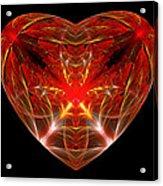 Fractal - Heart - Open Heart Acrylic Print